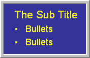 sub heading and bullets