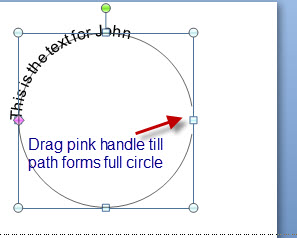 How to write around a circle in indesign
