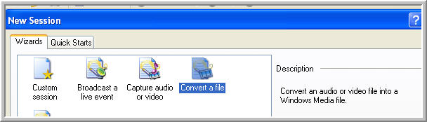 Choose Convert a file