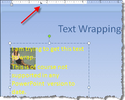 text wrapping