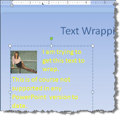 Text wrapping tabbed