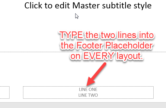 Slide Master Placeholder