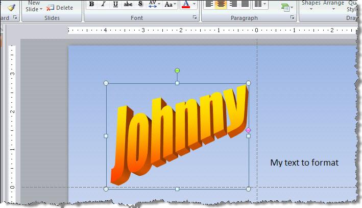 PowerPoint 2007 Old Style Wordart